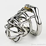 Teriya 2017 NEW Arrival Stainless Steel Chastity Cage Male Chastity Device With arc-shaped Cock Ring Sex Toys For Men Virginity lock