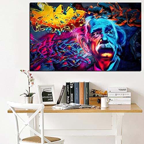 Spray Paint Abstract Art On Canvas