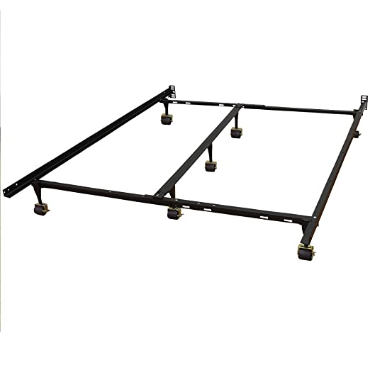 classic brands hercules universal heavyduty metal bed frame adjustable width fits twin twin xl full queen king california king