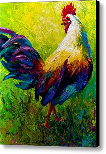 Art Animal Painting Rooster Pattern Wall Art and Home Decoration, Canvas Art Print on Canvas 16 x 20 in No Framed (Paintings For Sale Rooster)