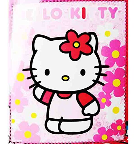 (Blanket - Hello Kitty - Pink Sunflwers New 50x60