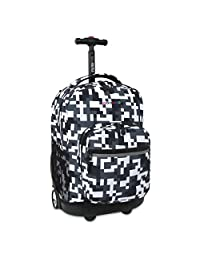 J World New York Kids' Sunrise Rolling Backpack, Camo, One Size