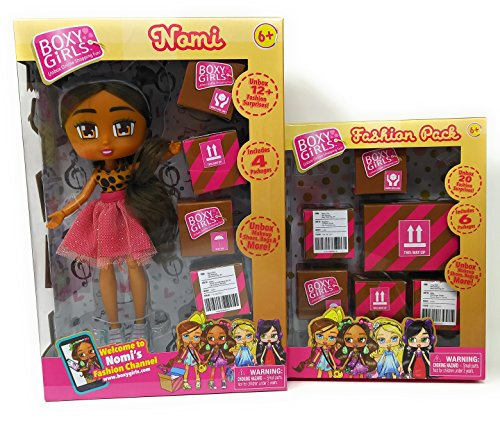 ddlers Girls Play Indoor Playtime BoxyGirls Nomi And Fashion Pack ()