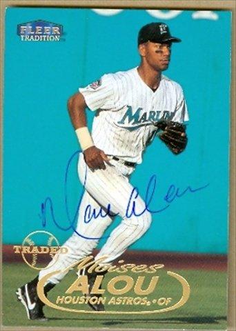 Autograph Warehouse 37743 Moises Alou Autographed Baseball Card Florida Marlins-Houston Astros 1998 Fleer Tradition No. 146 67