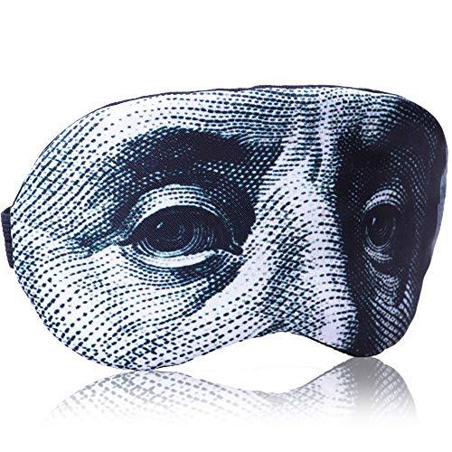 (Sleep Mask for Women Men Children Kids - Sleeping mask 100% Soft Cotton - Comfortable Eye Sleeping Mask Night Cover Blindfoldfor Travel Airplane (USD Green, Plastic)