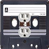 Rikki Knight Retro Cassette Tape Design Single Outlet Plate