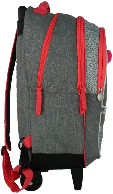 Bagtrotter Sac /à Dos /à Roulettes Poivre Blanc Taille 30 x 14 x 42 cm Couleur Gris//Rose
