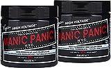 "Manic Panic Semi-Permanent Hair Color Cream - Raven 4oz ""Pack of 2"""