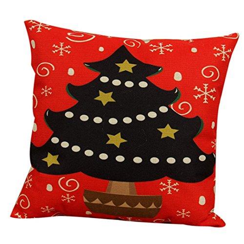 試みるクラスヘアTieanヴィンテージクリスマスソファーベッドホーム装飾枕カバークッションカバー