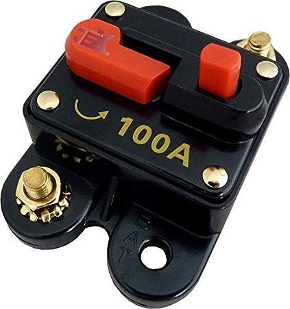 amazon com jex electronics 100 amp in line circuit breaker stereo rh amazon com