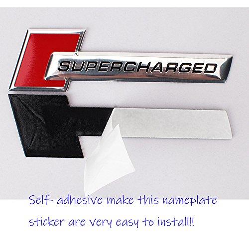 cheap UpAuto 2 pcs Supercharged Emblem Badge 3D Nameplate