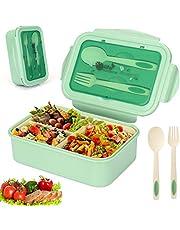 Sinwind Lunchbox, bento-box, bento-box, bentobox, 1400 ml, met 3 vakken en bestek