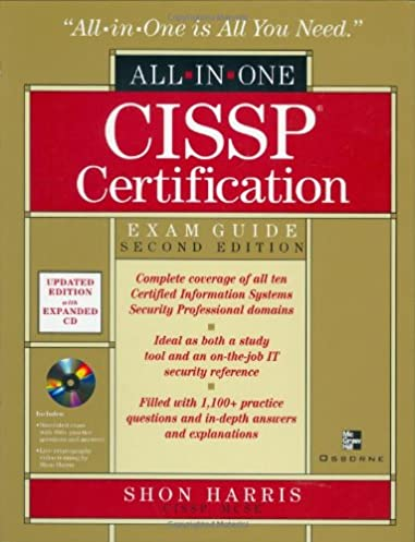 cissp certification exam guide 2nd edition all in one book cd rh amazon com