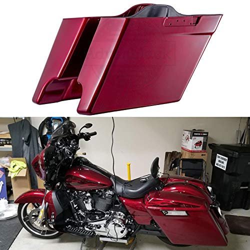 - Hard Candy Hot Rod Red Flake 4 1/2 inch Extended Saddle Bags Stretched Saddlebag Bottoms Fit for Harley Touring Road Glide Special Street Glide Special Road King Special 2018