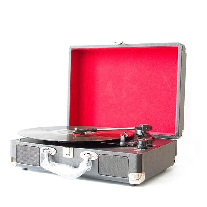 GWX Fonógrafo portátil Retro, Disco de Vinilo de DVD, Soporte para ...