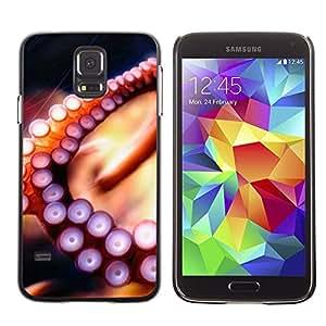 TopCaseStore / la caja del caucho duro de la cubierta de protección de la piel - Octopus Tentacle - Samsung Galaxy S5 SM-G900