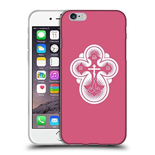 """GoGoMobile Coque de Protection TPU Silicone Case pour // Q09300614 Croix chrétienne 40 Rougir // Apple iPhone 6 PLUS 5.5"""""""