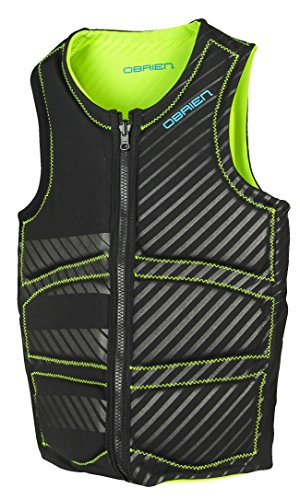 O'brien Men's Wake Competition Watersports Vest Black/Green (M)