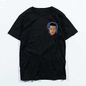 JJZHY Camiseta con Estampado Creativo de Manga Corta Xxxtentacion Negra de algodón Modal Unisex: Amazon.es: Deportes y aire libre