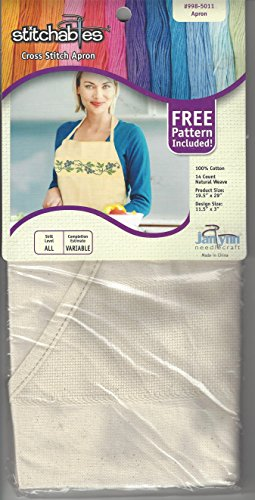 - Janlynn Stitchables Cross Stitch Apron Measures Approx 19.5