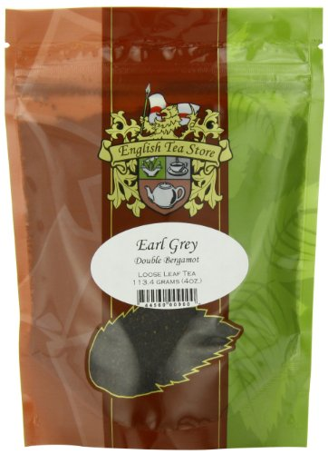 English Tea Store Loose Leaf, Double Bergamot Earl Grey Tea Pouches, 4 - Bergamot Herb