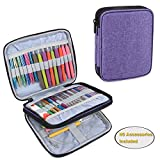 Teamoy Organizer Case for Interchangeable Circular Knitting Needles, Crochet Hooks and Knitting Accessories, Keep All in One Place and Easy to Carry, Purple (No Accessories Included): more info