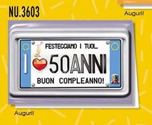 Subito Disponibile Biglietto Auguri Compleanno 50 Anni Una Targa