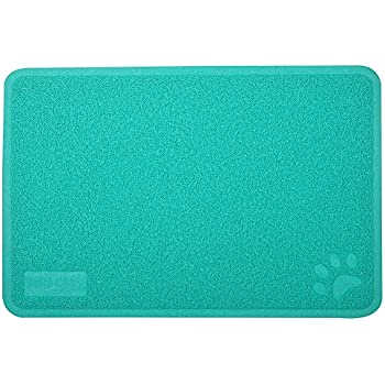Cat Pet Litter Box Mat,Kitty Litter Rug,Doormat,Rectangle Shape Lime 23.5x15.75 Inches,4 Colors Available