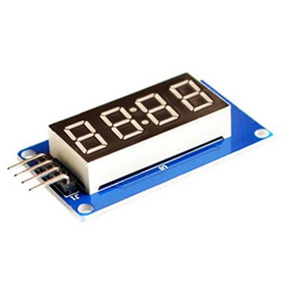 DaoRier TM1637 4 Bits Digital Tube LED Display Modul f/ür Arduino 1 St/ück