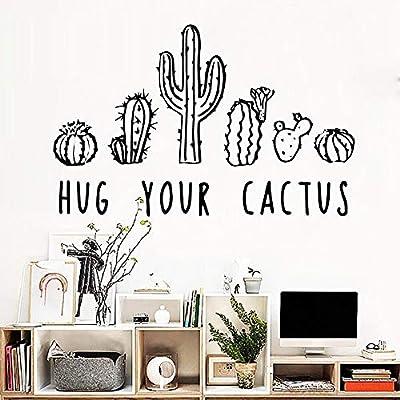 zqyjhkou Cactus PVC Tatuajes de Pared Decoración para el hogar ...