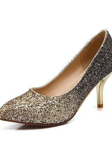 ShangYi Damenschuhe - High Heels - Hochzeit / Kleid - Kunstleder - Stöckelabsatz - Absätze / Spitzschuh - Lila / Silber / Gold / Burgund golden