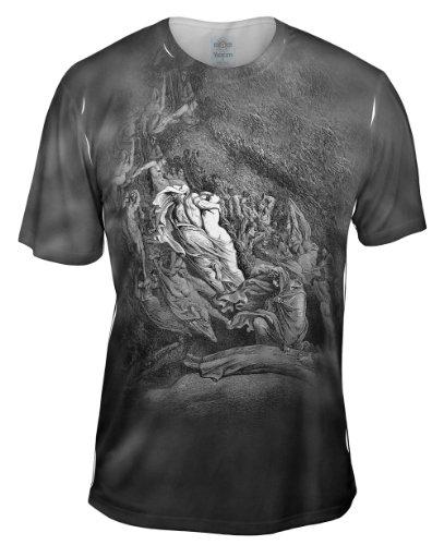 Yizzam- Gustave Dore - Dantes Inferno Dante Has A T.-TShirt- Mens Shirt 2204-Large