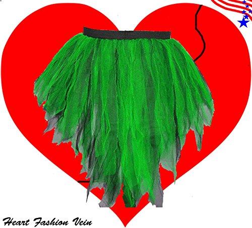 Neon Green Black Bustle Peacock Seven Layer Trashy Tutu Skirt -