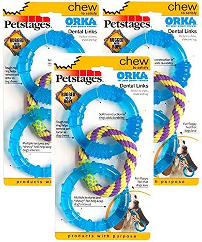 Petstages 3 Pack of Orka Dental Links Dog Chew Toys (Orka Chew)