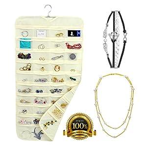 Amazoncom Hanging Jewelry Organizer Pearl Necklace 4 stripes