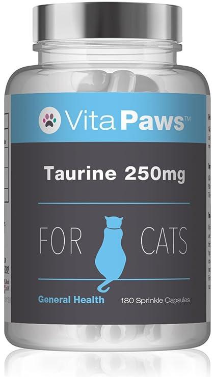 VitaPaws™ Taurina 250mg | 180 Cápsulas para espolvorear | Aminoácido esencial en la dieta de