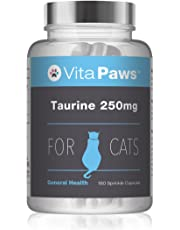 Taurine Supplement for Cats by VitaPaws (180 Caps)