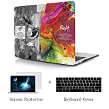 TwoL Hard Plastic Case Silicone Keyboard Skin and Screen Protector for MacBook Air