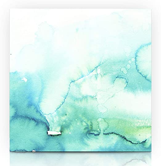 PIANO MUSIC BLUE WATERCOLOUR PAINT STYLE CANVAS PRINT WALL ART PICTURE PHOTO