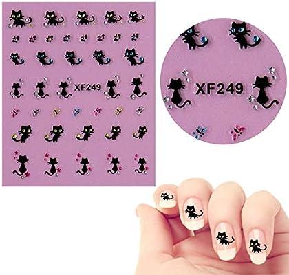 Amazon.com: utda.sh-fs uñas de mujer gato mariposa ruedas ...