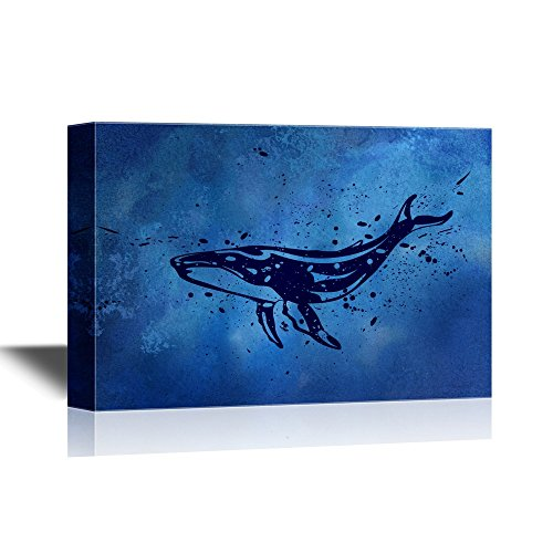Abstract Whale Swimming under Deep Ocean