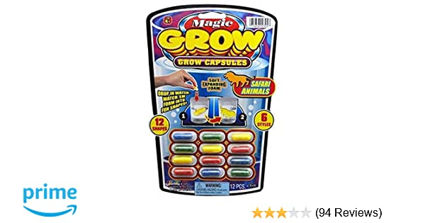 Amazon JaRu Magic Grow Capsules One 6 Various Themes 12 Count Package Toys Games