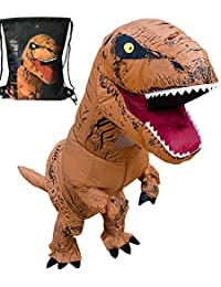 Adult T-Rex Dinosaur Inflatable Costume With Exclusive Drawstring Bag …
