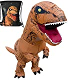 LuckySun Adult T-Rex Dinosaur Inflatable Costume With Exclusive Drawstring Bag