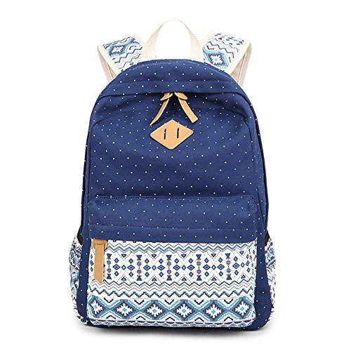 b9e6acb585af Cute Backpack for Boys Fresion Casual A4 Books Schoolbags Girls Rucksack  for Teenagers Patterned Backpacks Fits up to 14 Inch Laptop Computer (Blue)  - Buy ...