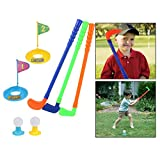 OFKPO Mini Golf Toy Golf Set Kids Golf Toy Kids Portable Mini Plastic Golf Club Set Outdoor Game