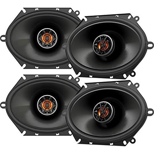 Custom Fit Car Speakers - 4 x JBL Club 8620 6x8 Custom Fit 165-Watt 2-Way Club-Series Coaxial Car Audio Speakers (Bulk Packaging)