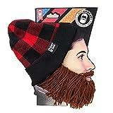 Beard Head - The Original Lumberjack Knit Beard Hat (Brown)