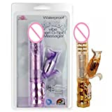 Marcaus Paint Co 1pcs/ Golden&Pink Squirrel Flexible Rotate Magic Wand In 3 Speed Rotation 6 Mode Vibration,Sex Toy Massager G Spot Vibrator