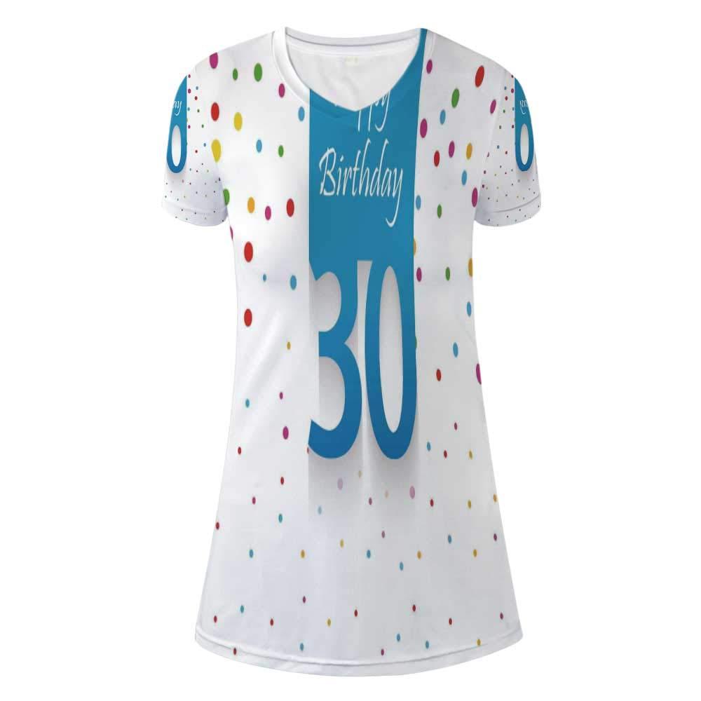 30th Birthday Decorations Stylish V Neck Dress,for Women,M